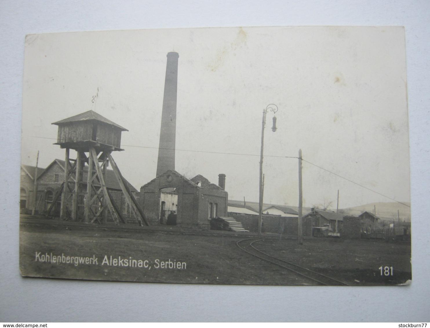 ALEKSINAC, Bergwerk, Schöne Karte 1918 - Serbia