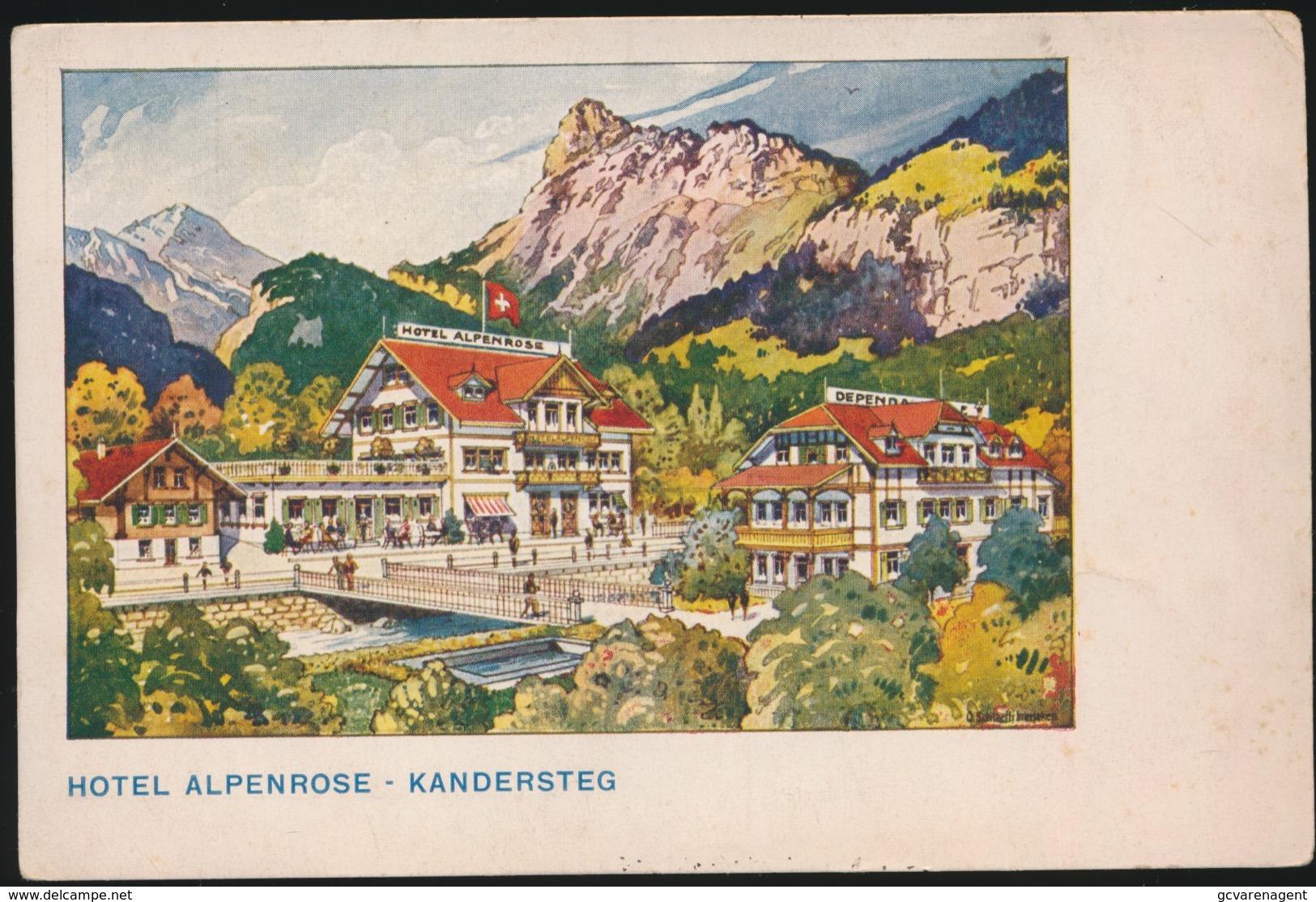 HOTEL ALPENROSE  KANDERSTEG - BE Berne