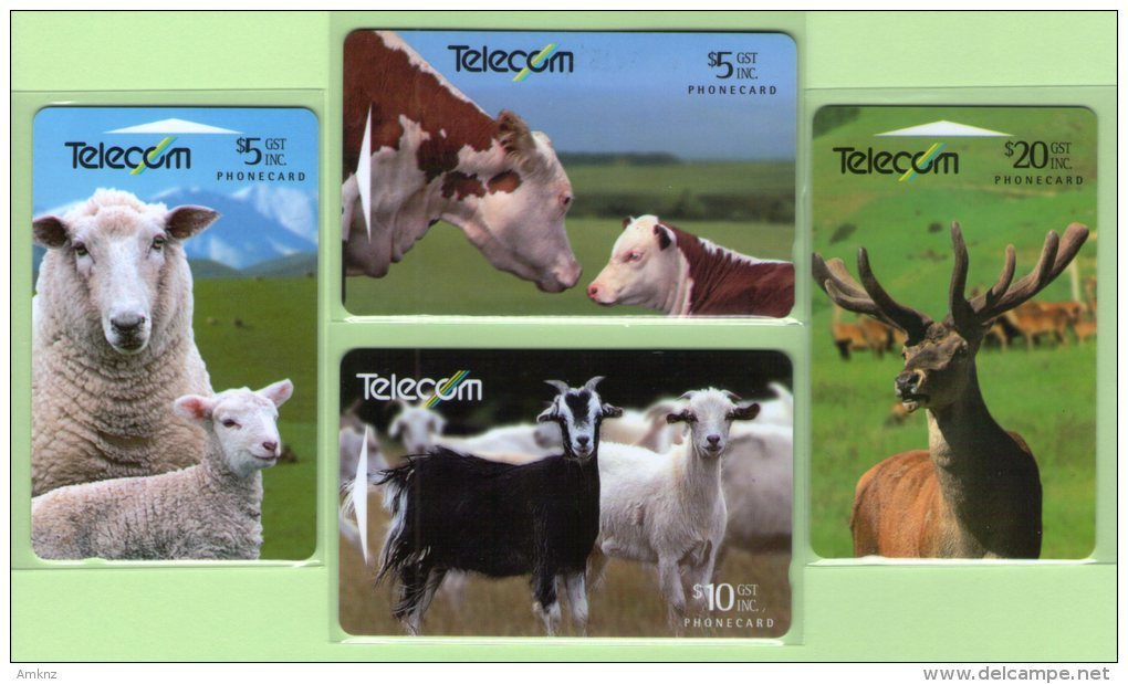New Zealand - 1994 Farm Animals Set (4) - NZ-G-90/3 - Very Fine Used - Neuseeland