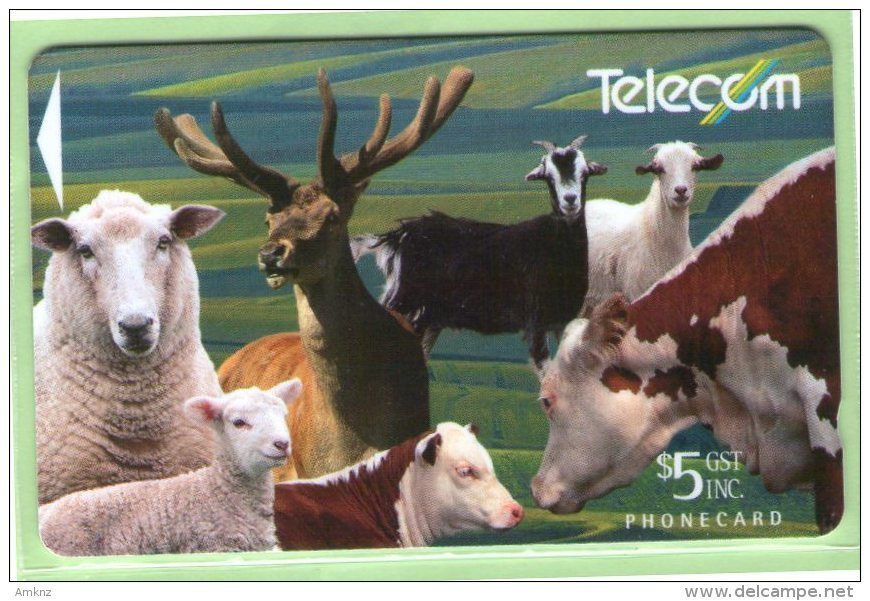 New Zealand - 1994 Farm Animals - $5 Montage Of Animals - Mint - NZ-P-37 - Neuseeland