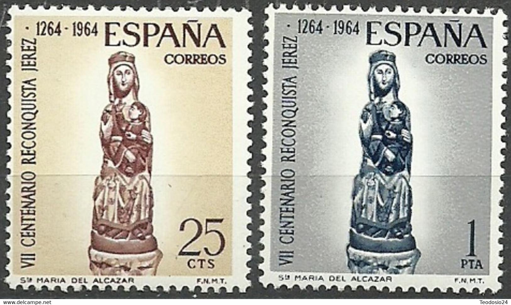 España 1964 ** Edifil 1615/1616** Mnh VII Aniversario Reconquista De Jerez. - 1931-Hoy: 2ª República - ... Juan Carlos I