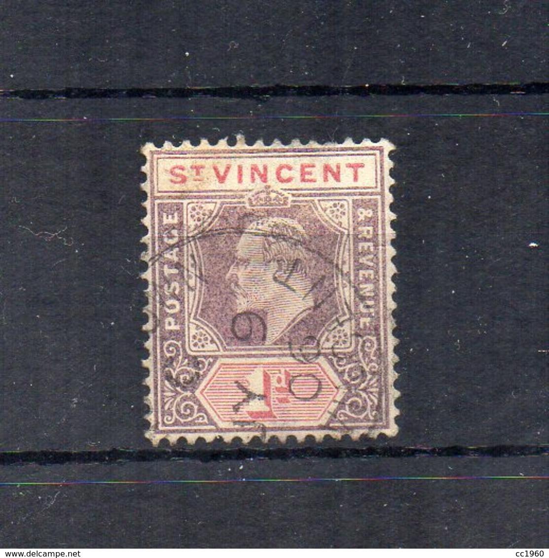 Gran Bretagna - (Vecchie Colonie E Protettorati - ST. VINCENT) - 1902 -  1 D - Usato - (FDC18449) - St.Vincent (...-1979)