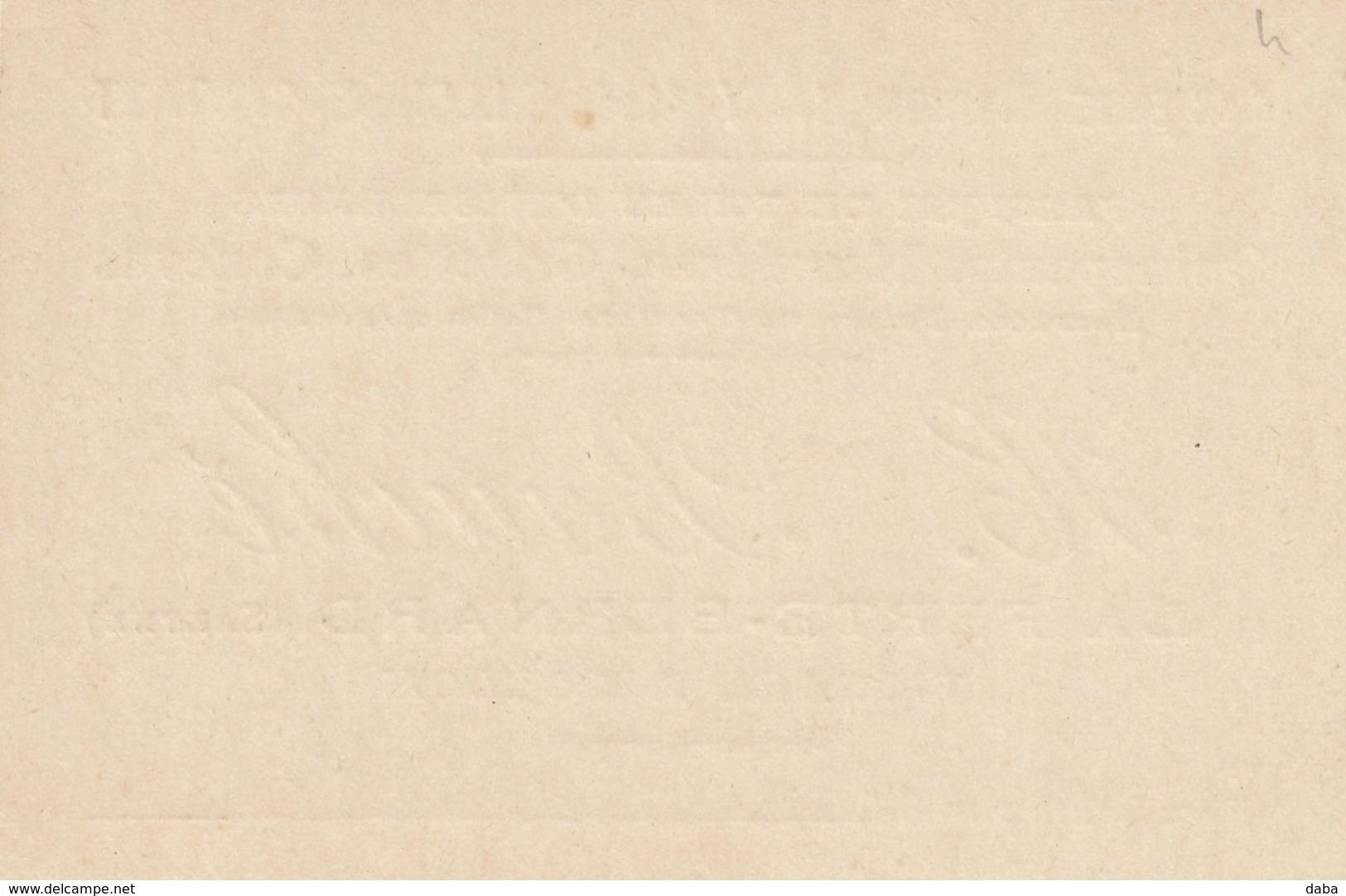 Carte De Visite De La Ferté Bernard. Fabrique De Toiles H. Bauché. Tissage à Dollon... - Visitekaartjes