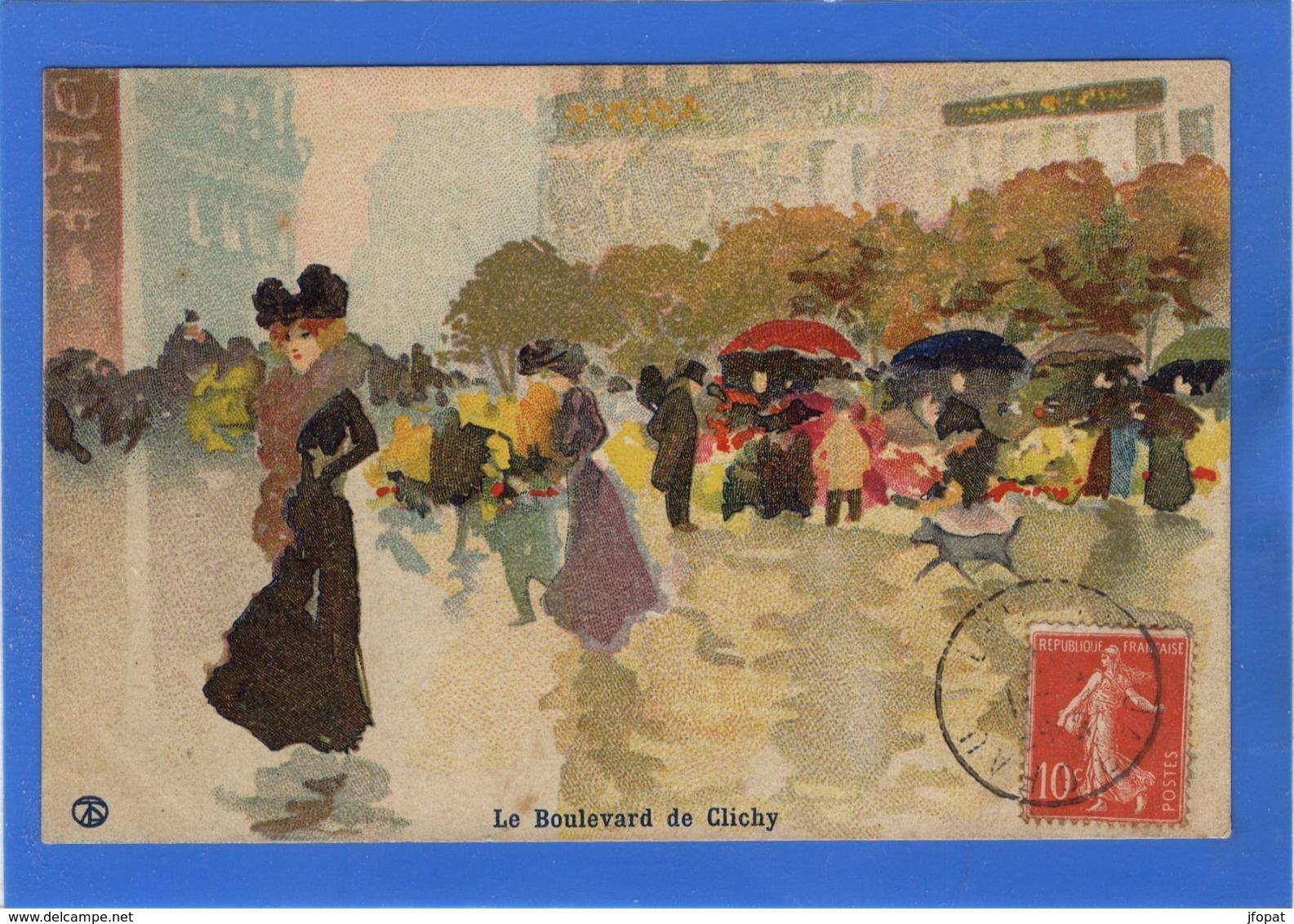 ILLUSTRATEURS Signés - Le Boulevard De Clichy Par Abel Trichet - Illustrateurs & Photographes