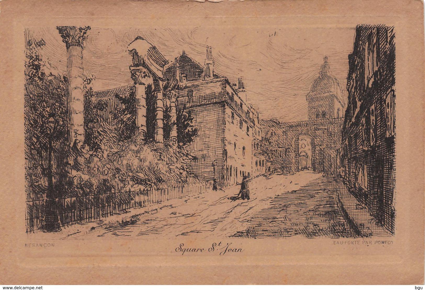 Besançon (25) - Square St Jean - Eau Forte Par Pontoy - Francia