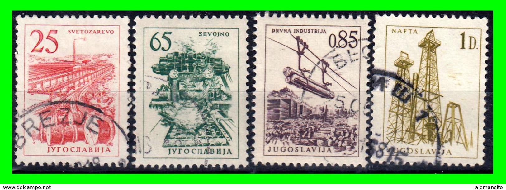 YUGOSLAVIA SELLO AÑO 1961 TECNOLOGIA Y ARQUITECTURA - Usados