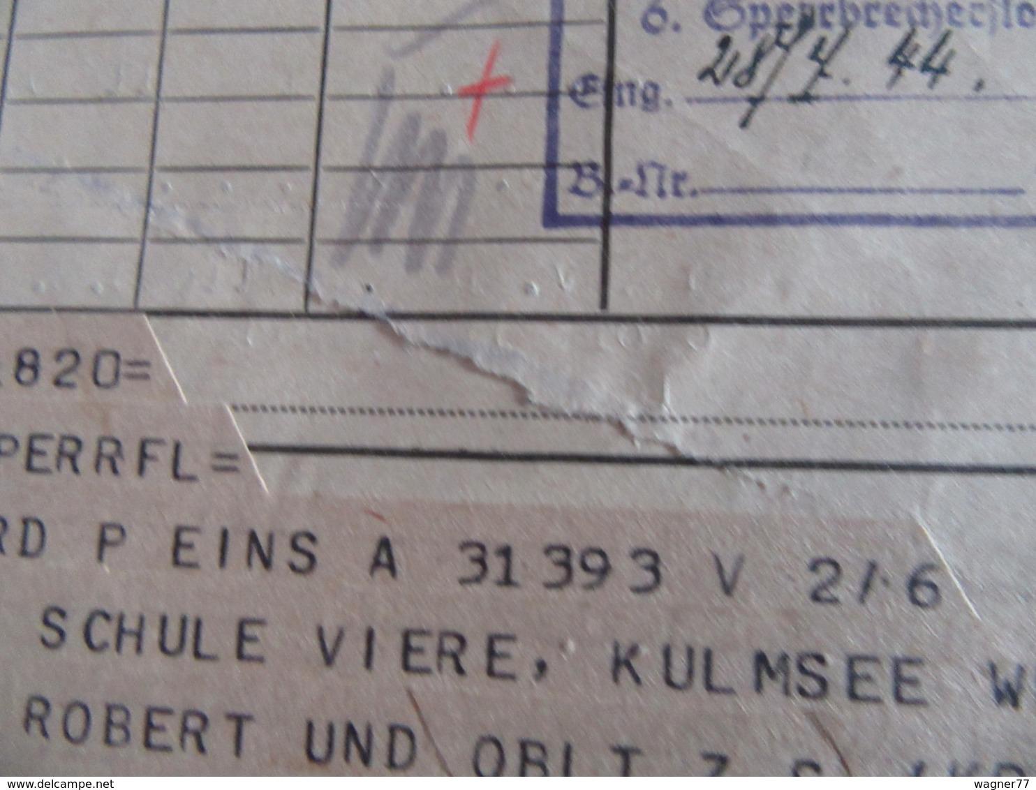 12x Kriegsmarine Telegramm 1944 Marinenachrichtendienst Sperrbrecher Flottille - Allemagne