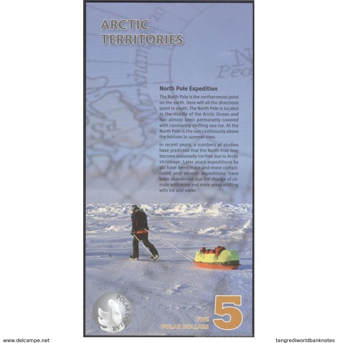 TWN - ARCTIC TERRITORIES (private Issue) - 5 Polar Dollars 2012 Polymer - Prefix A UNC - Banconote
