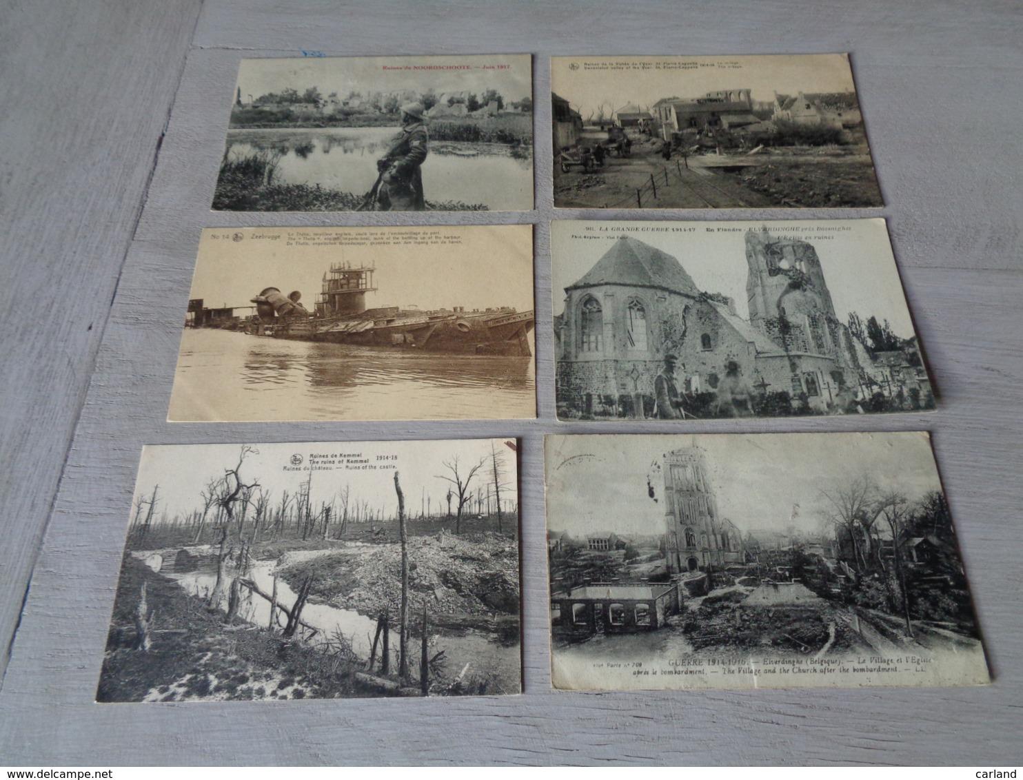 Lot De 20 Cartes Postales De Belgique Guerre  Ruines    Lot Van 20 Postkaarten Van België Oorlog Ruinen - 5 - 99 Postkaarten