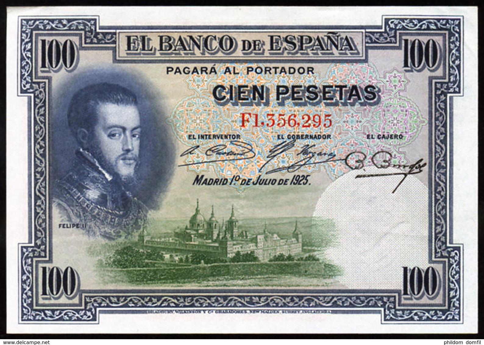 Ref. 225-743 - BIN SPAIN . 1925. 100 Pesetas Alfonso XIII 1st July 1925. 100 Pesetas Alfonso XIII 1 De Julio De 1925 - [ 1] …-1931 : Primeros Billetes (Banco De España)