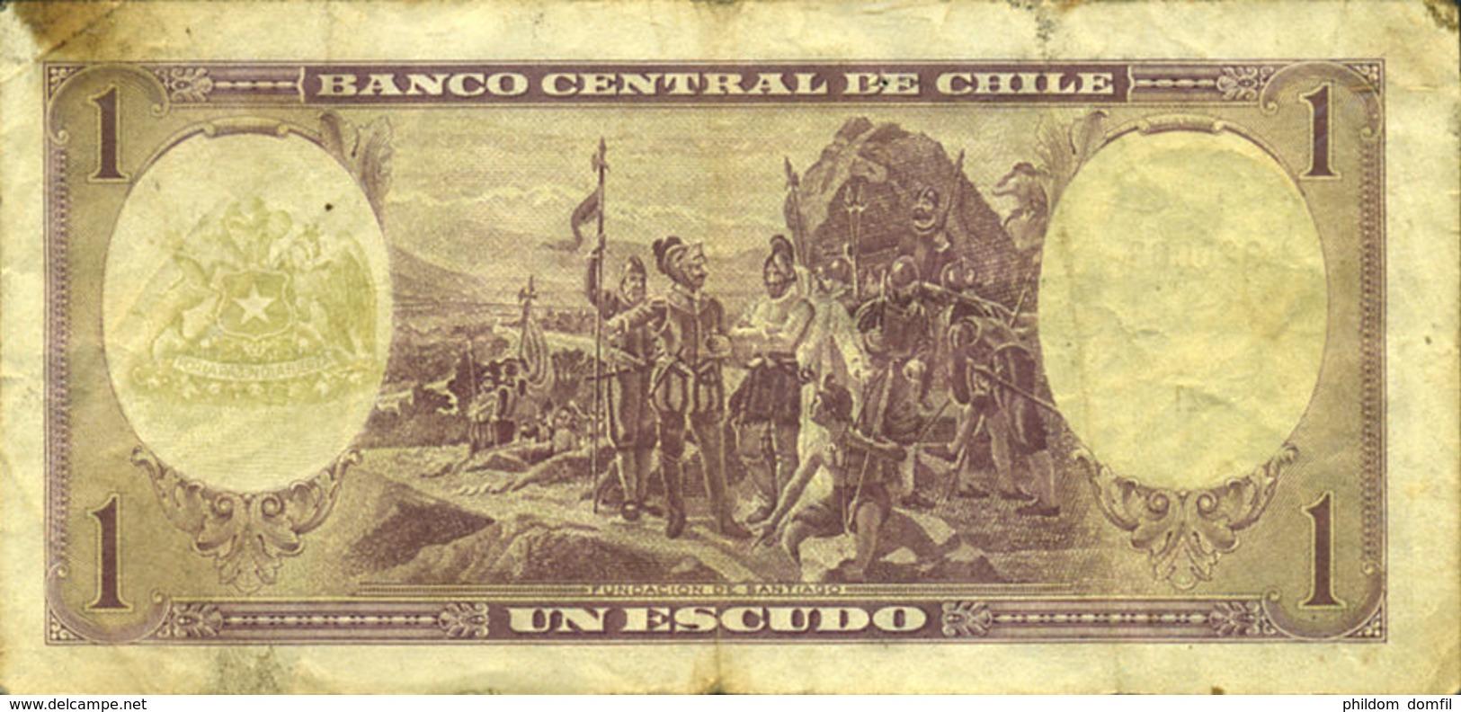 Ref. 521-917 - BIN CHILE . 1962. 1 ESCUDO CHILE 1962-1975. 1 ESCUDO CHILE 1962-1975 - Chile