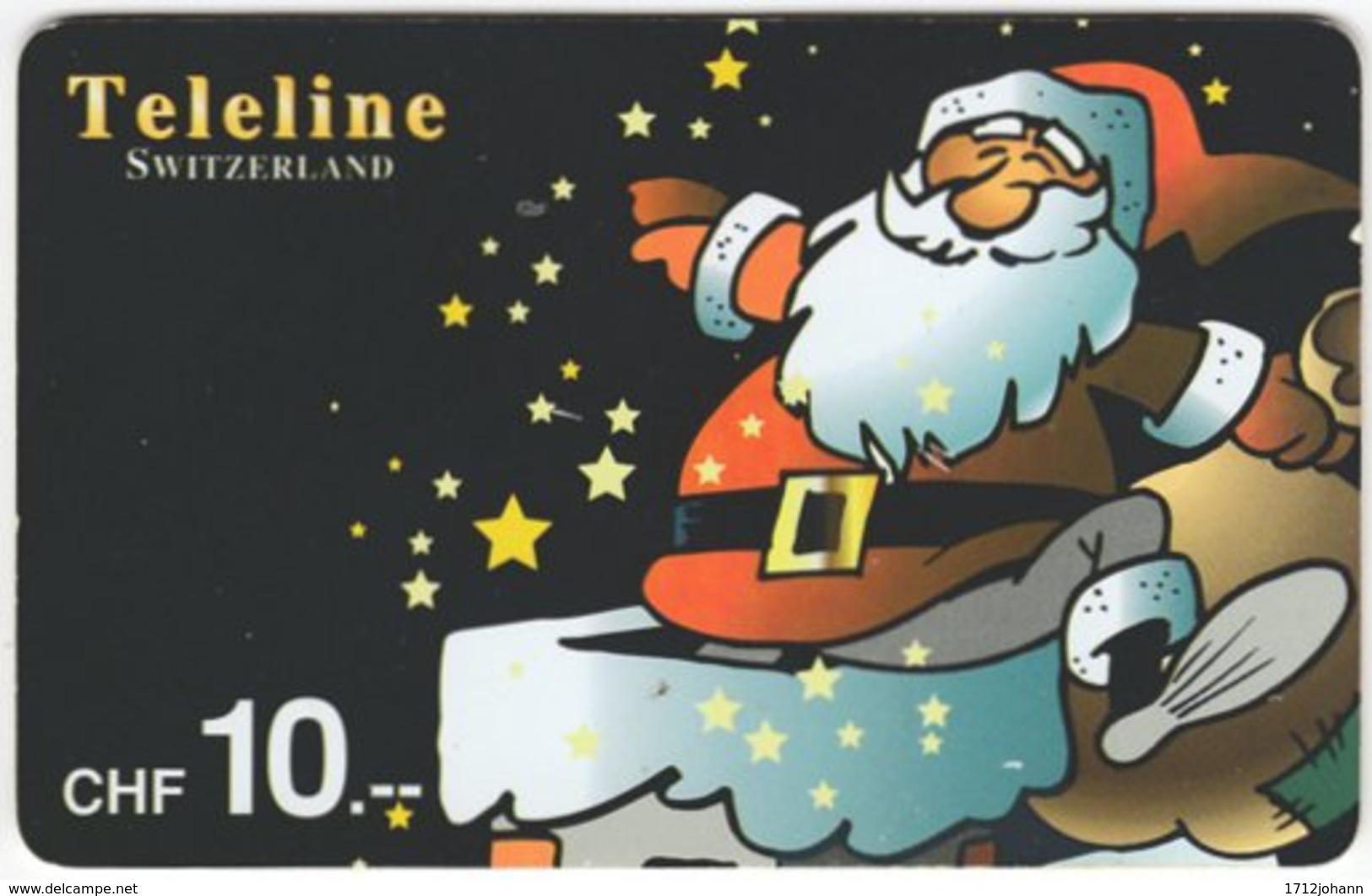 SWITZERLAND D-066 Prepaid Teleline - Occasion, Christmas - Used - Schweiz
