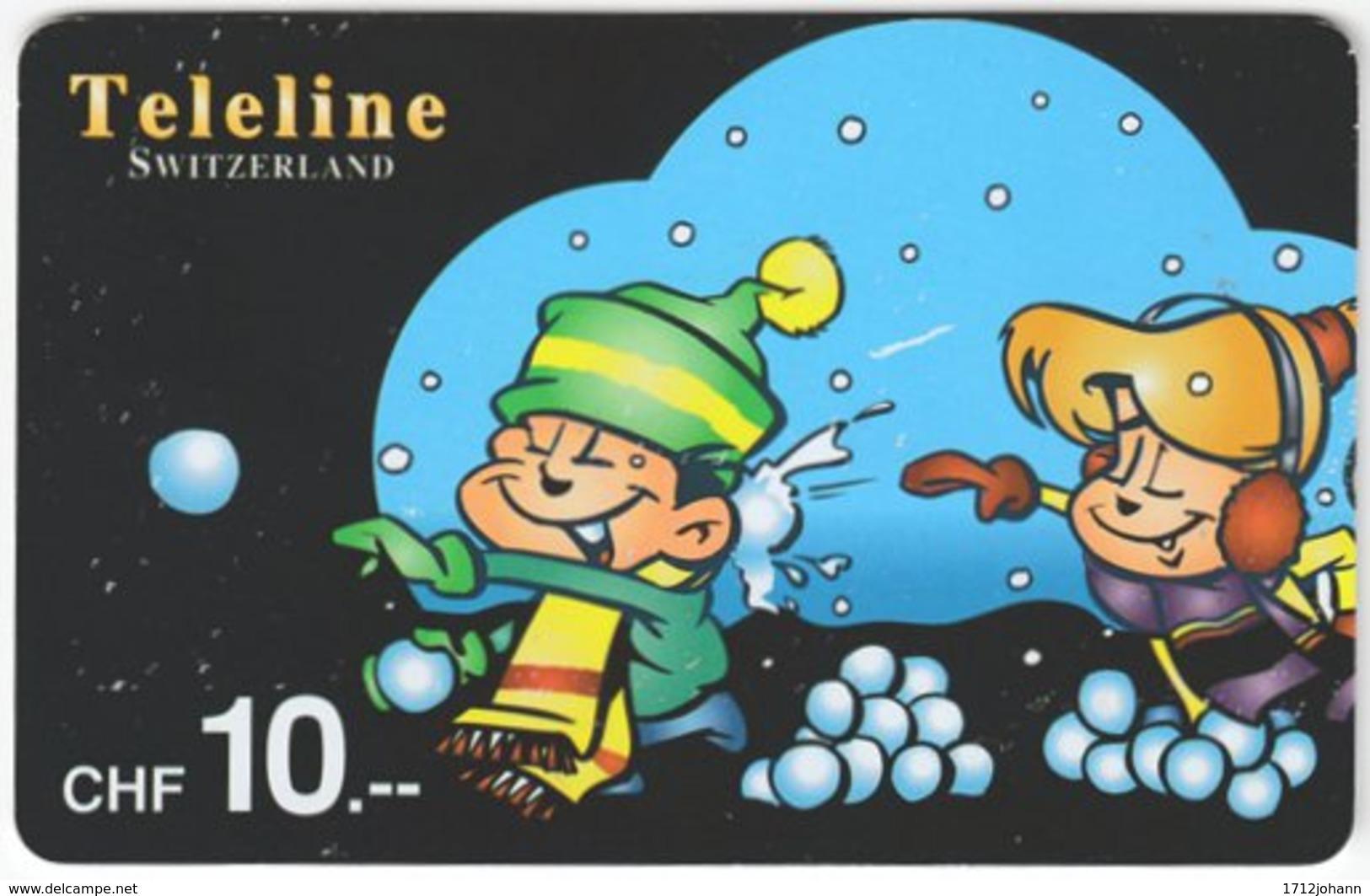 SWITZERLAND D-071 Prepaid Teleline - Cartoon, Winter - Used - Schweiz