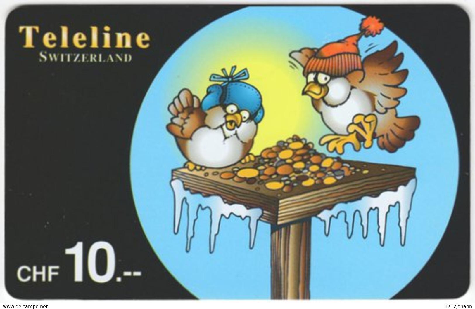 SWITZERLAND D-072 Prepaid Teleline - Cartoon, Winter - Used - Schweiz