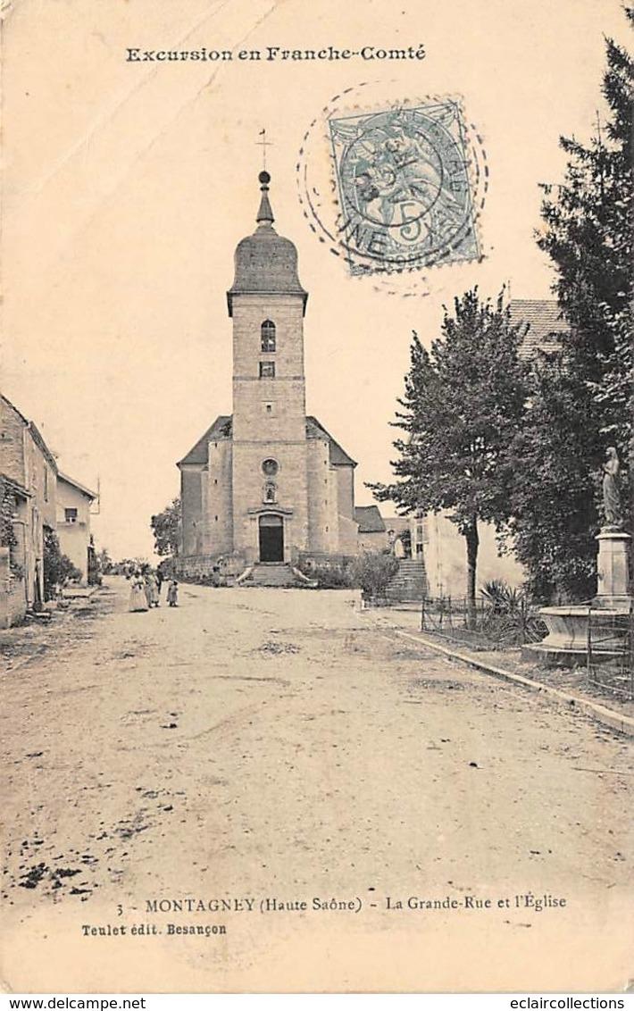 Montagney       70       La Grande Rue Et L'Eglise       (Pli Voir Scan) - Sonstige Gemeinden