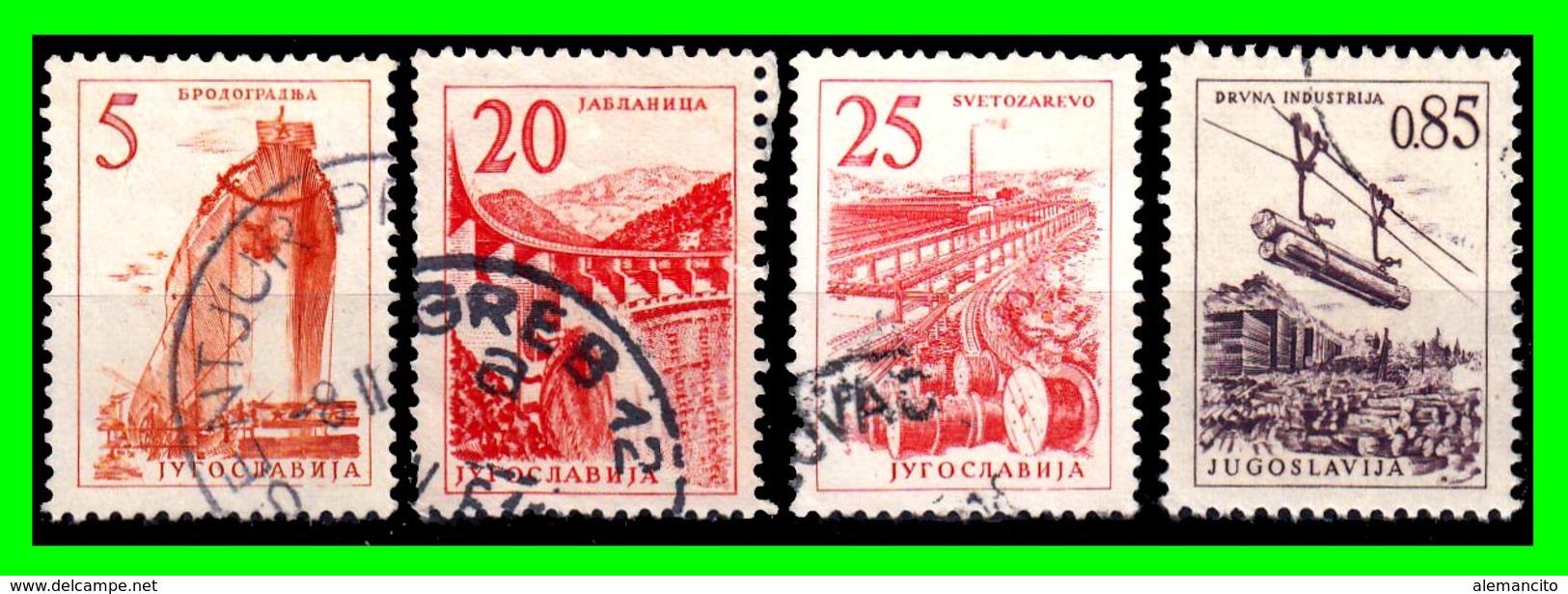 YUGOSLAVIA SELLO AÑO 1958 SERIE CORRIENTETECNOLOGIA Y ARQUITECTURA - Usados