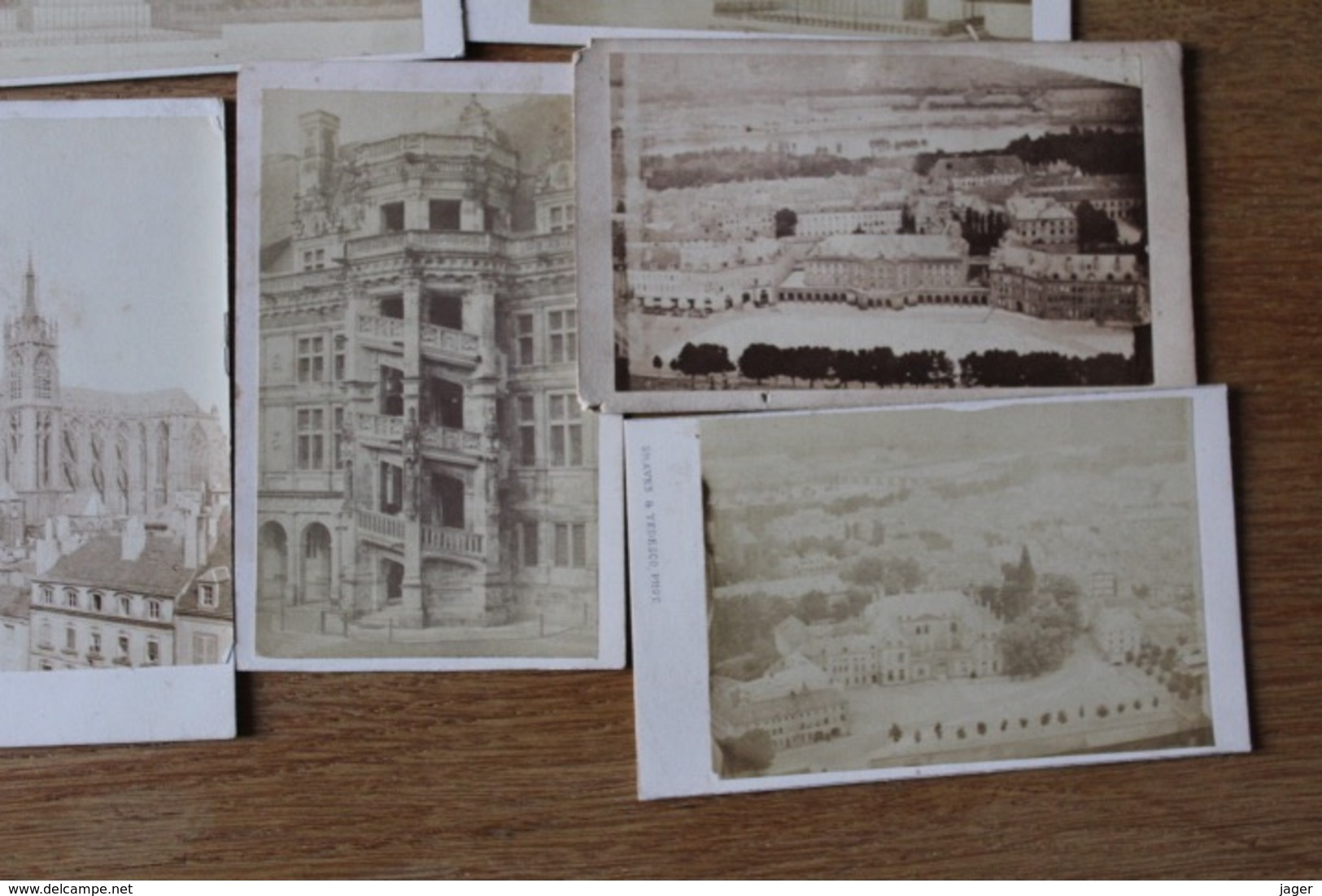 8 Cdv Second Empire  Maisons , édifices, Places  Etc à Localiser - Anciennes (Av. 1900)