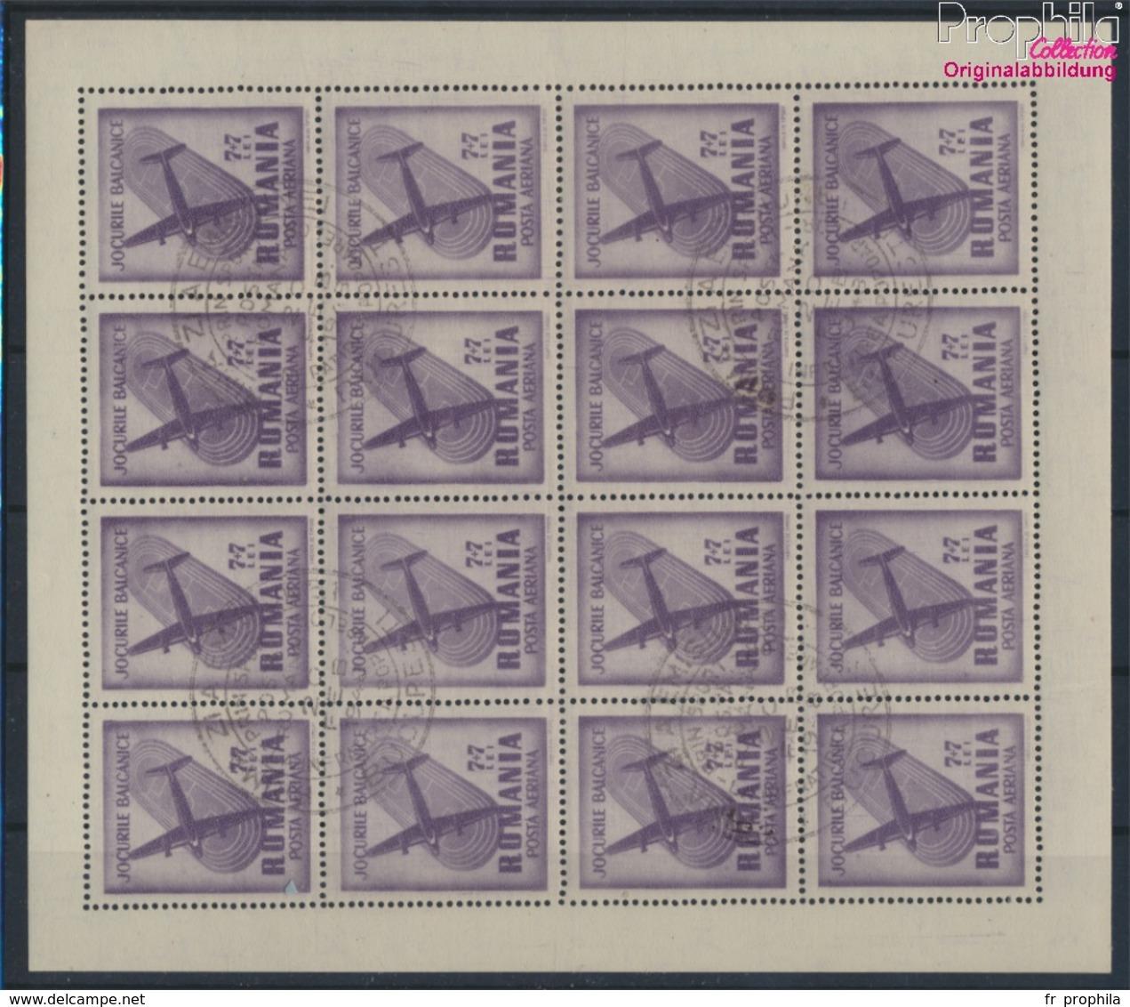 Roumanie 1099Klb Feuille Miniature Oblitéré 1948 Balkans Jeux (9371797 (9371797 - Gebraucht