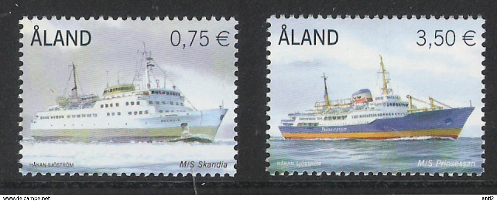 Aland 2010 Ferries: Skandia And Prinsessan  Mi  325-326 MNH(**) - Aland