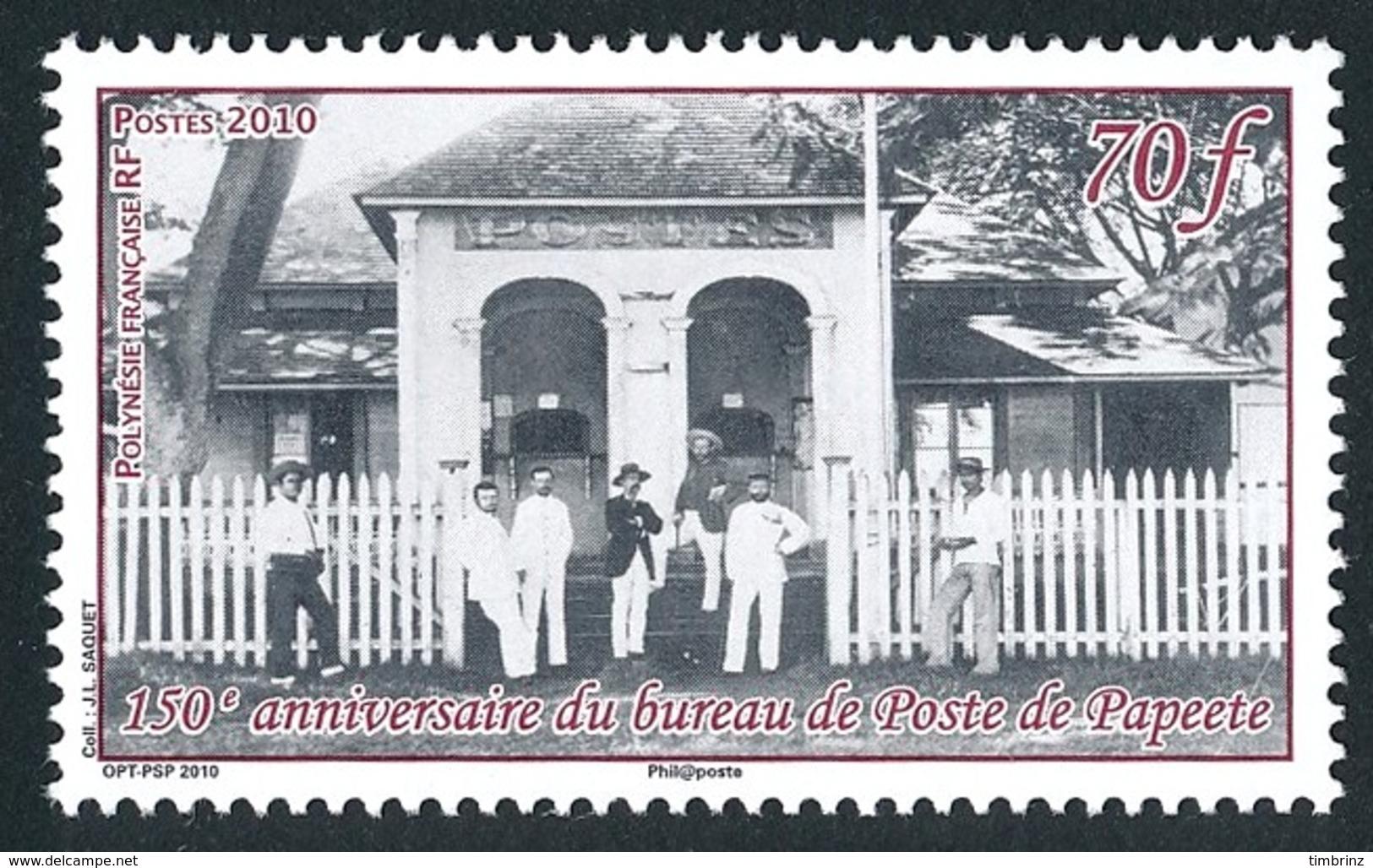 POLYNESIE 2010 - Yv. 898 **  - 1er Bureau De Poste à Papeete  ..Réf.POL24862 - Neufs