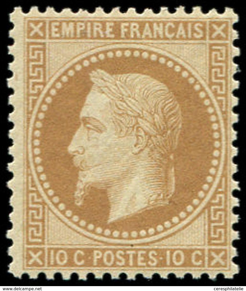 * EMPIRE LAURE - 28A  10c. Bistre, T I, Frais, TB/TTB - 1863-1870 Napoleon III With Laurels