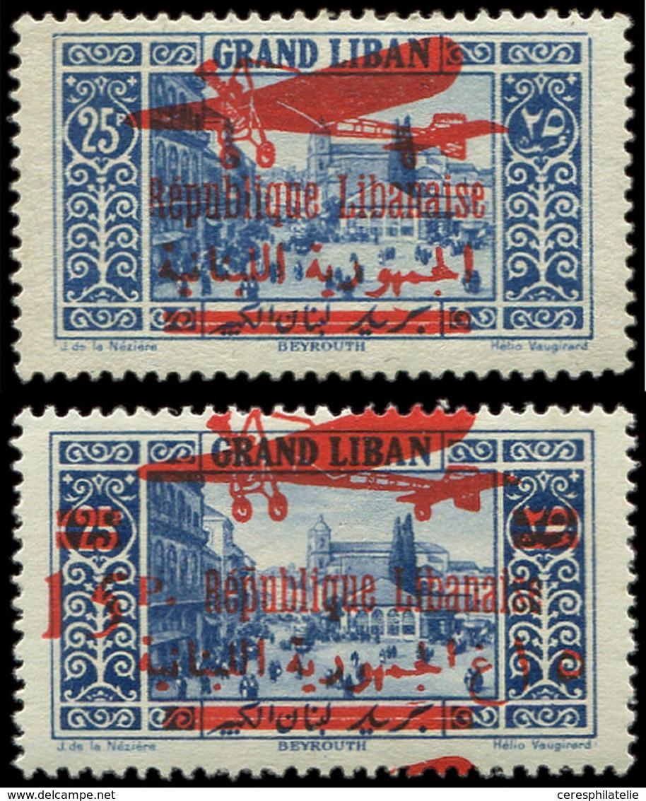 * GRAND LIBAN PA 36/37 : 15p. Sur 25p. Et 25p. Bleu, TB - Great Lebanon (1924-1945)