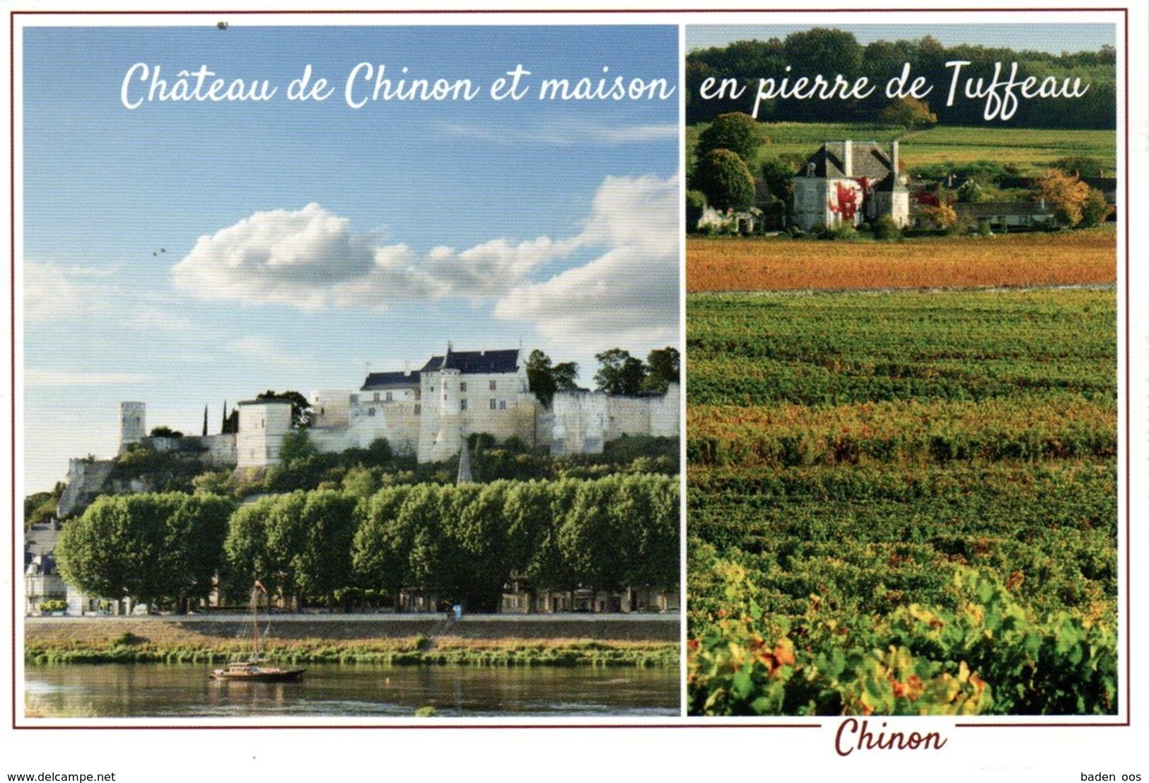 Château De Chinon Et Maison En Pierre De Tuffeau - Chinon