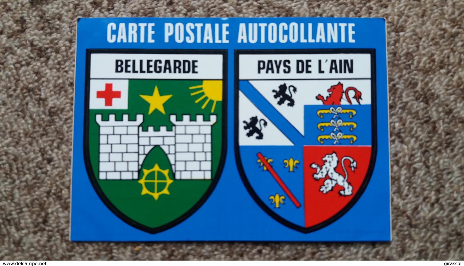 CPM CARTE POSTALE AUTOCOLLANTE BELLEGARDE PAYS DE L AIN BLASON ED PUBLISTIC - Bellegarde-sur-Valserine