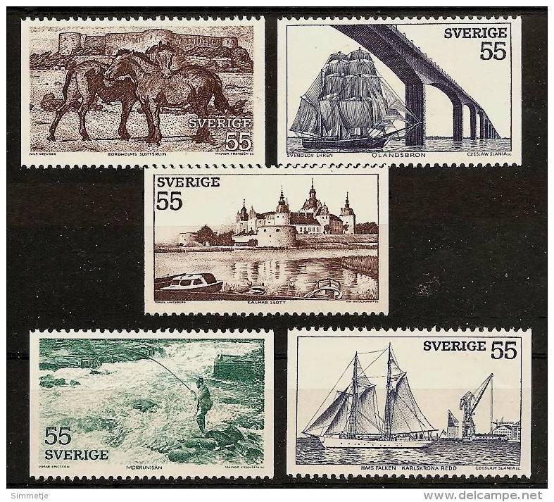 SWEDEN SVERIGE 1972 - TOURISM / South-Sweden / 5v From Booklet33 - Mi 752-56 MNH ** Cv€2,50 J315 - Schweden