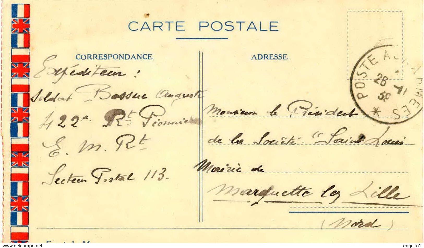 Carte Postale En Franchise Militaire Datée Du 26 Novembre 1939 - Marcophilie (Lettres)