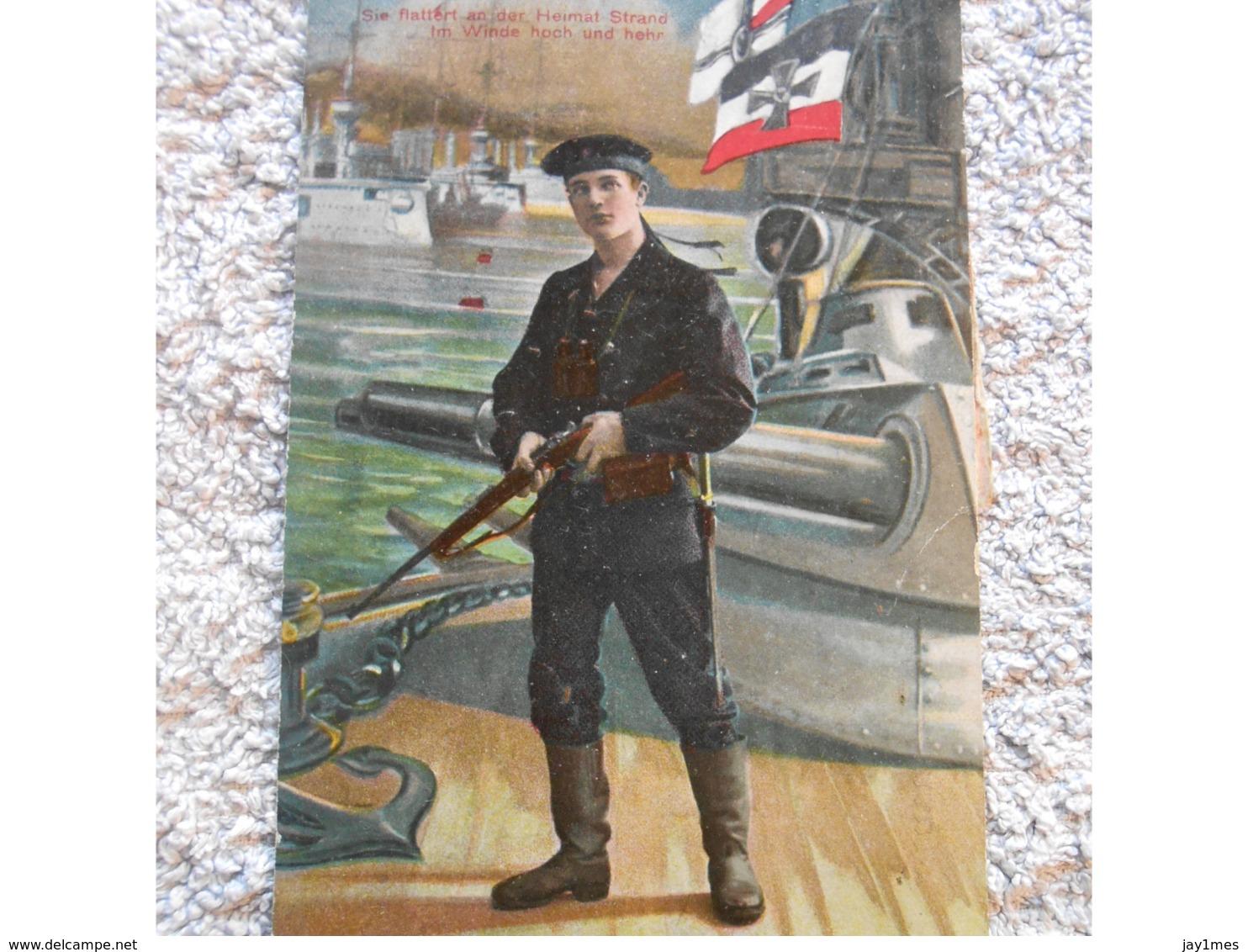 Cpa Pk Patriotika - Feldpost Propagande Deutschland  Ww1 Guerre 14-18  1wk - Oorlog 1914-18