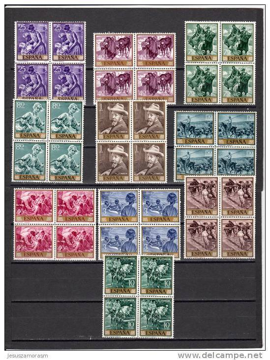 España Nº 1566 Al 1575 En Bloque De Cuatro - 1931-Hoy: 2ª República - ... Juan Carlos I