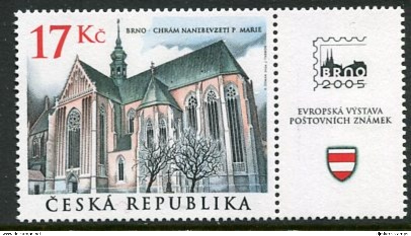 CZECH REPUBLIC 2004 Cistercian Monastery Church  MNH / **. Michel 389 - Tchéquie