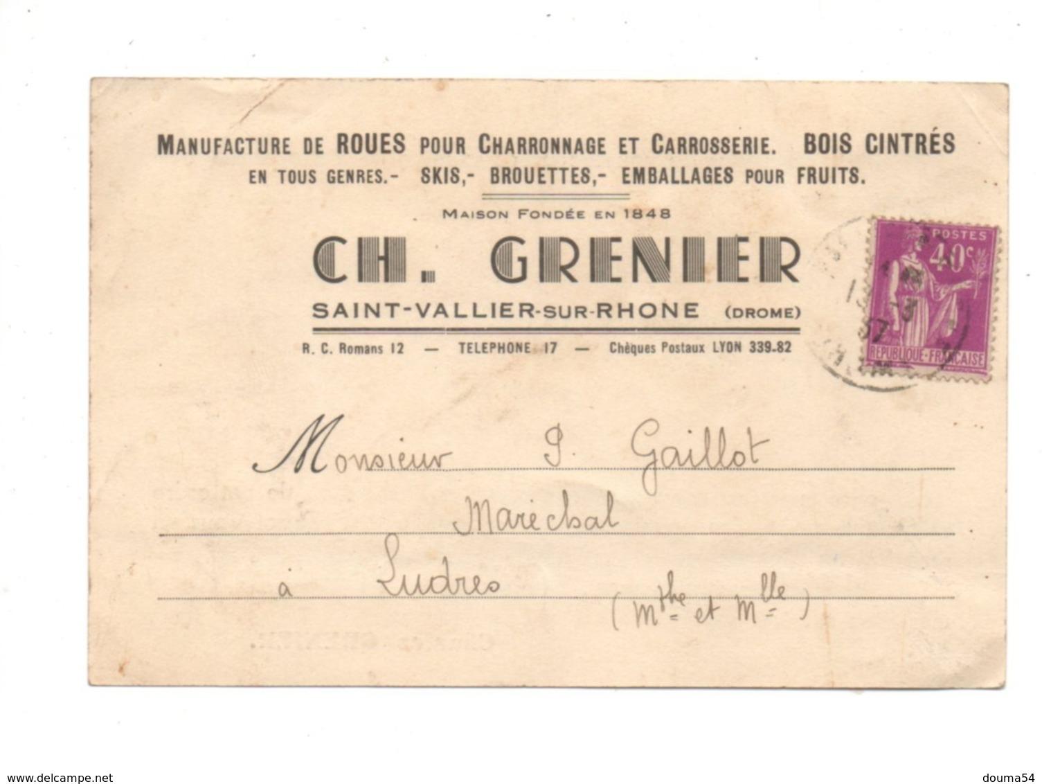 SAINT VALLIER SUR RHONE (26) - Manufacture De Roues - Frankreich