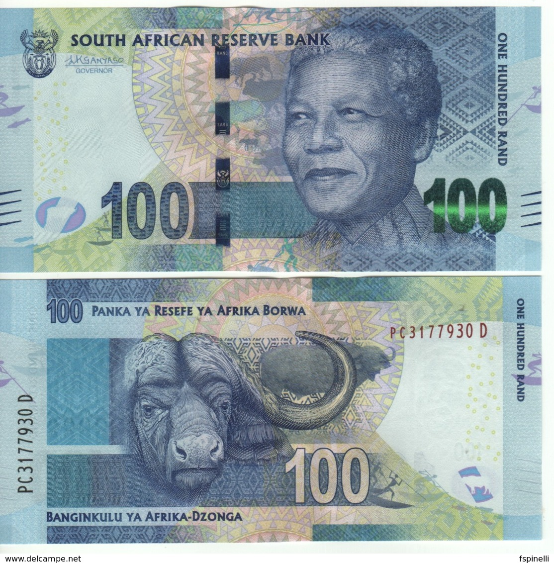 South AFRICA  100 Rand  P141b  (ND 2016)  Signature: Kganyago - Zuid-Afrika
