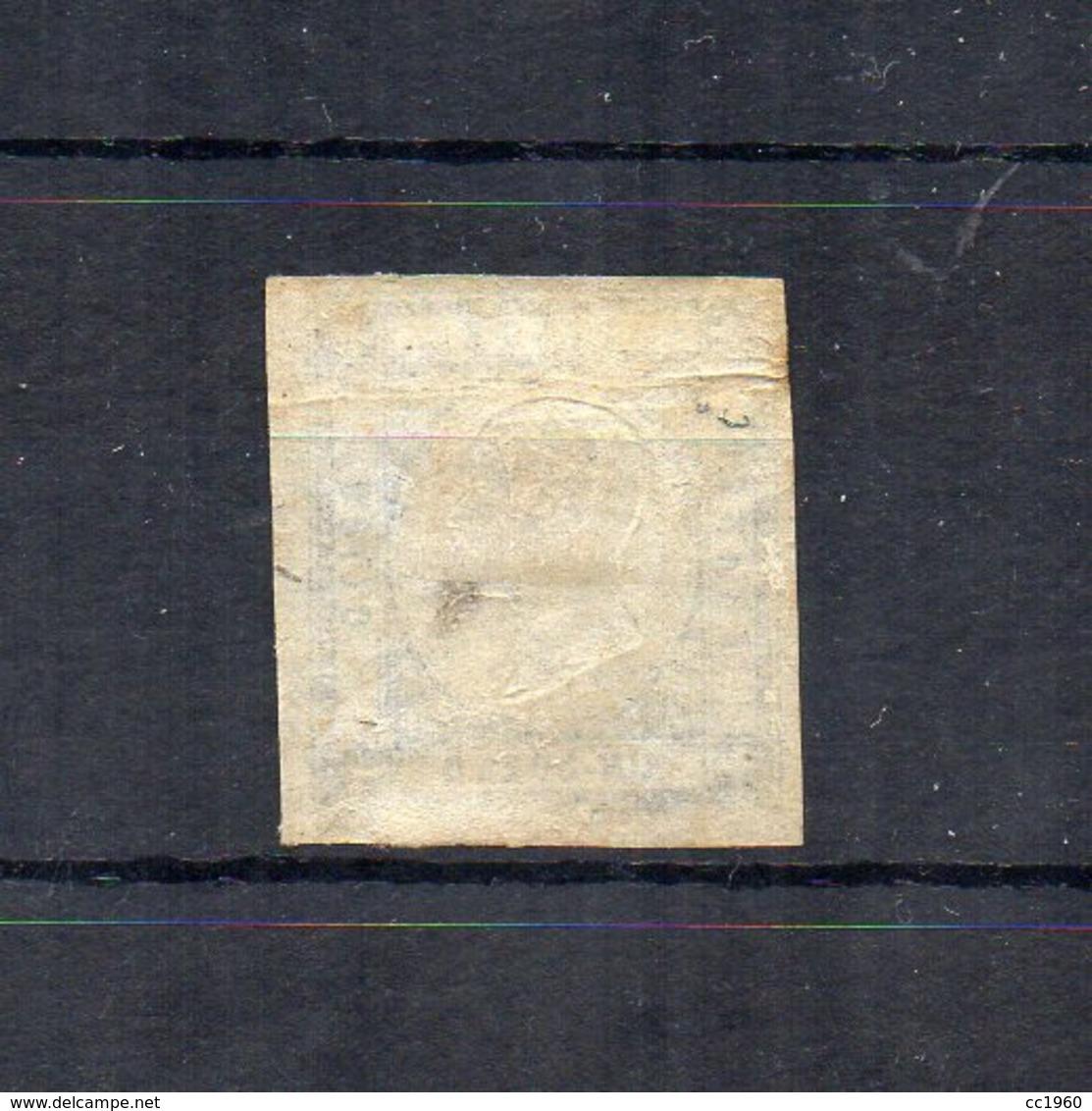 Italia - Regno Delle Due Sicilie - Province Napoletane - 1861 - V.E. II° - 1 Grano - Nero - Usato - (FDC18491) - Naples
