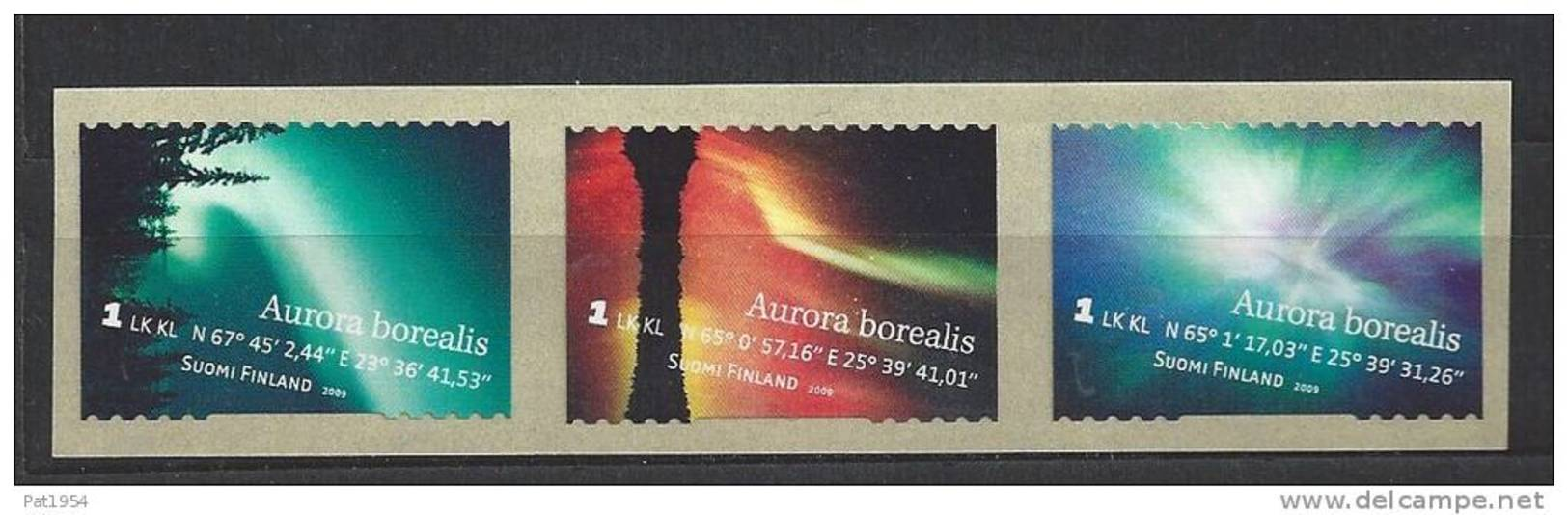 Finlande 2009 N°1959/1961 Neufs Aurores Boréales - Unused Stamps