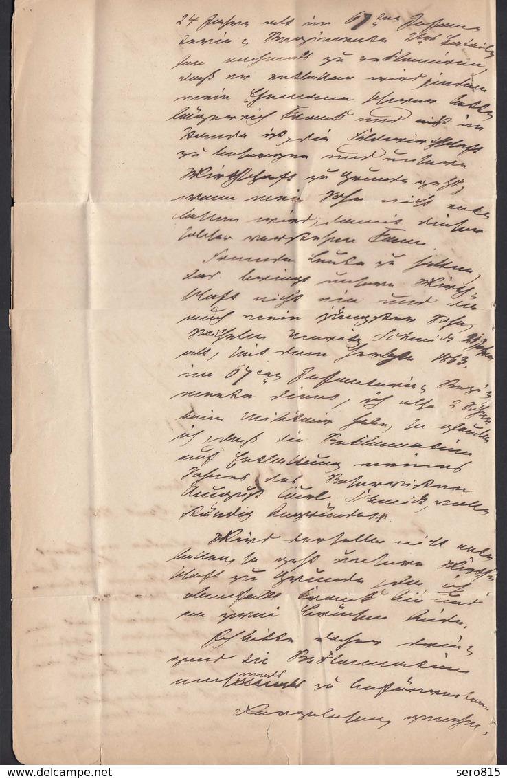 Preussen Brief 1864 BITTERFELD K2 - DÜBEN Mit Inhalt   (25623 - Sellos