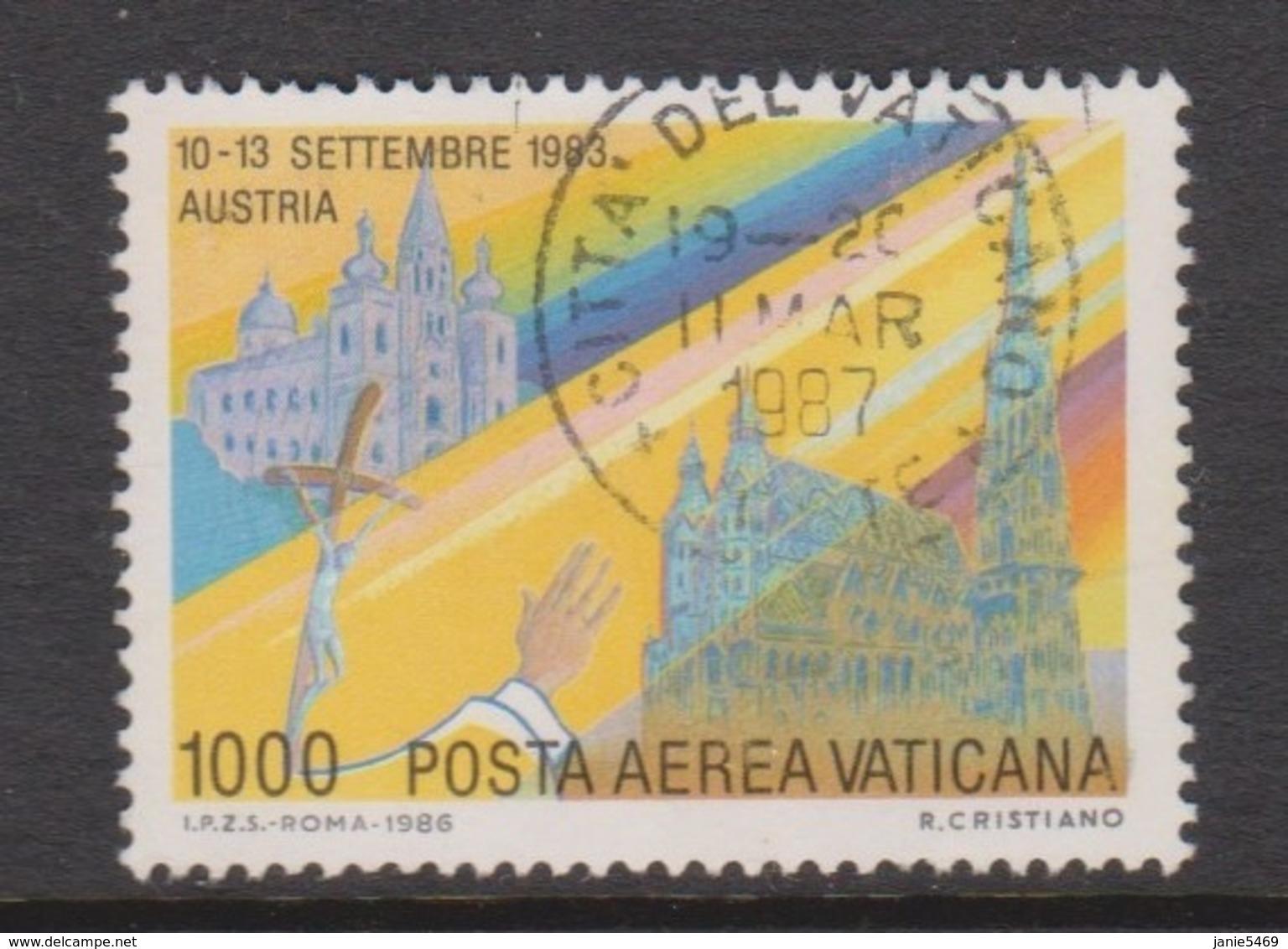 Vatican City AP 87 1988 Pope Travels During 1989  1000 Lire ,used - Vaticano (Ciudad Del)