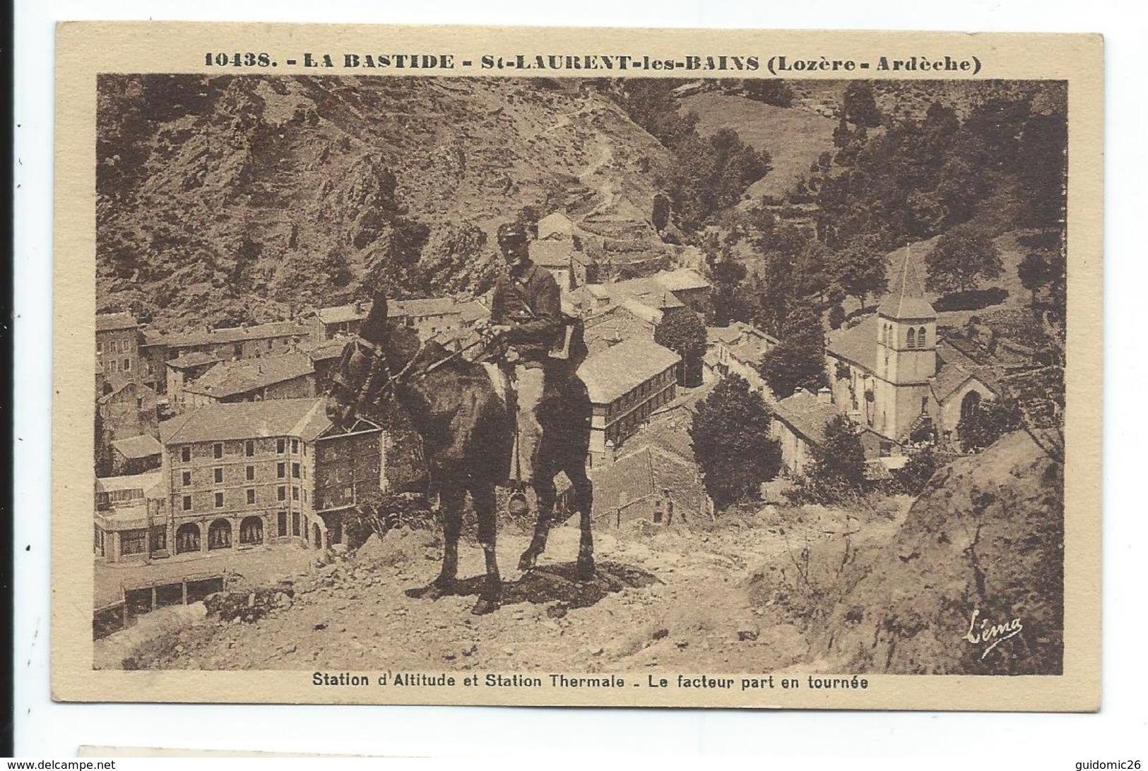 La Bastide , St Laurent Les Bains , Le Facteur Par En Tournée - Autres Communes