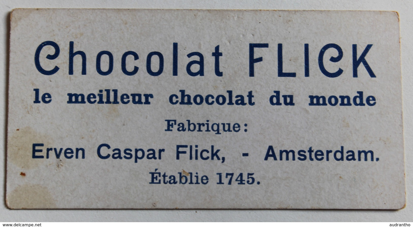 Rare Chromo Chocolat Flick Erven Caspar Flick Amsterdam Höllandischer Cacao Fête Danse Musique - Chocolat