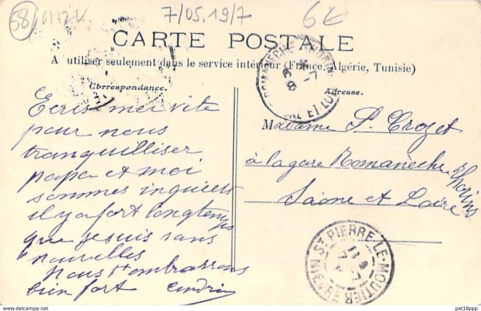 58 - SAINT PIERRE LE MOUTIER : Rue De Paris - Jolie CPA Village Colorisée ( 2.000 Habitants ) - Nièvre Nivernais Morvan - Saint Pierre Le Moutier