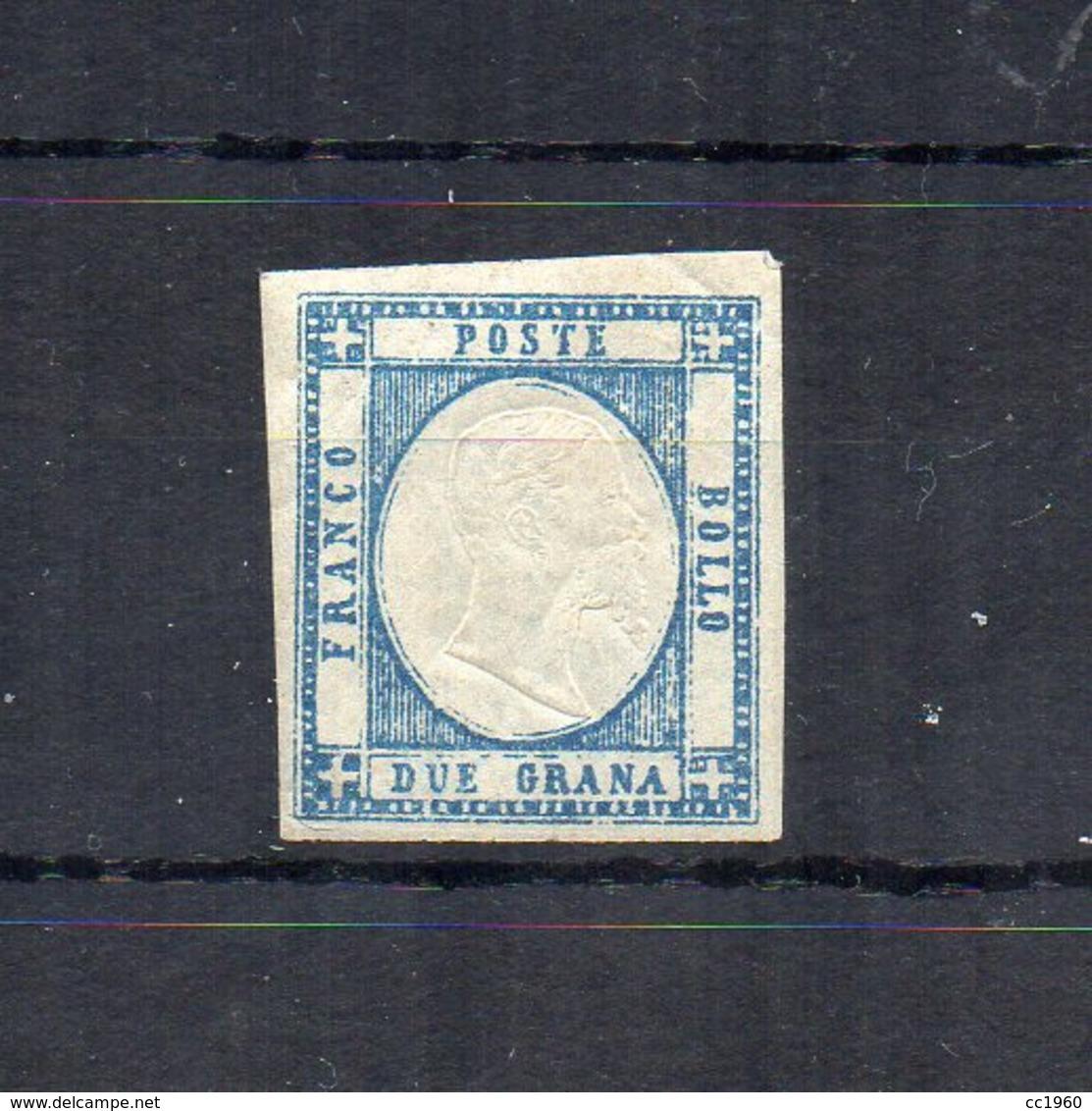 Italia -Regno Delle Due Sicilie -Province Napoletane -1861 - V.E. II° - 2 Grana - Azzurro Chiaro - Nuovo ** - (FDC18495) - Naples