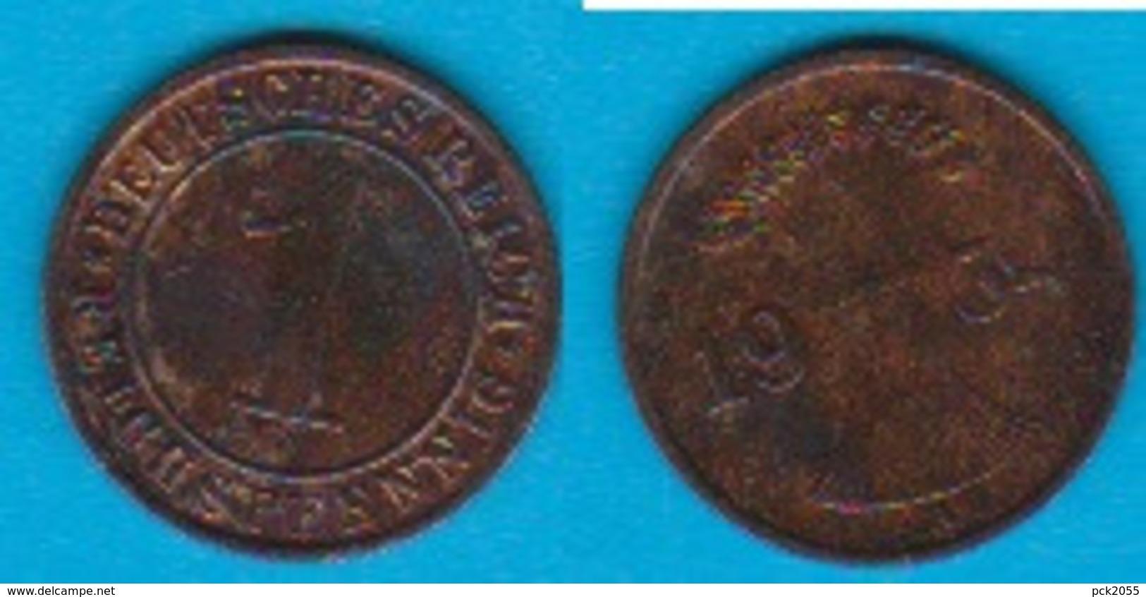 DR. 1 Reichspfennig 1934 A Kupfer J.-Nr.313 - 1 Rentenpfennig & 1 Reichspfennig