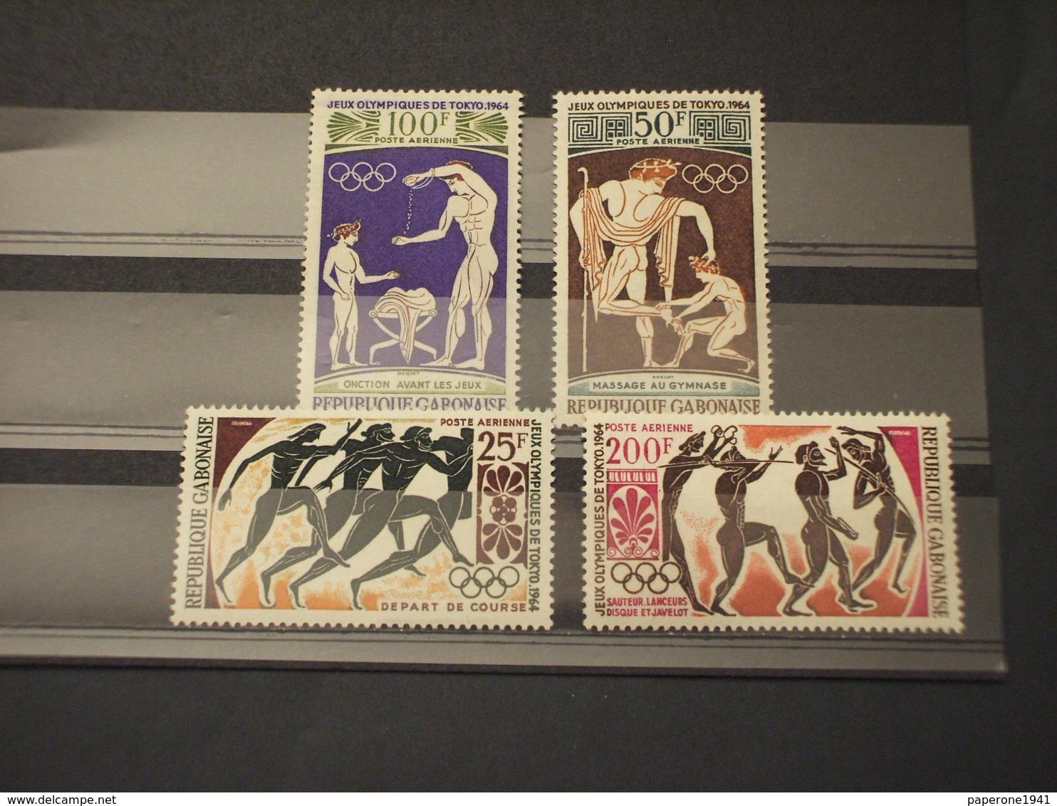 GABON - P-A. 1964 GIOCHI/ARTE GRECA 4 VALORI - NUOVI(++) - Gabon (1960-...)