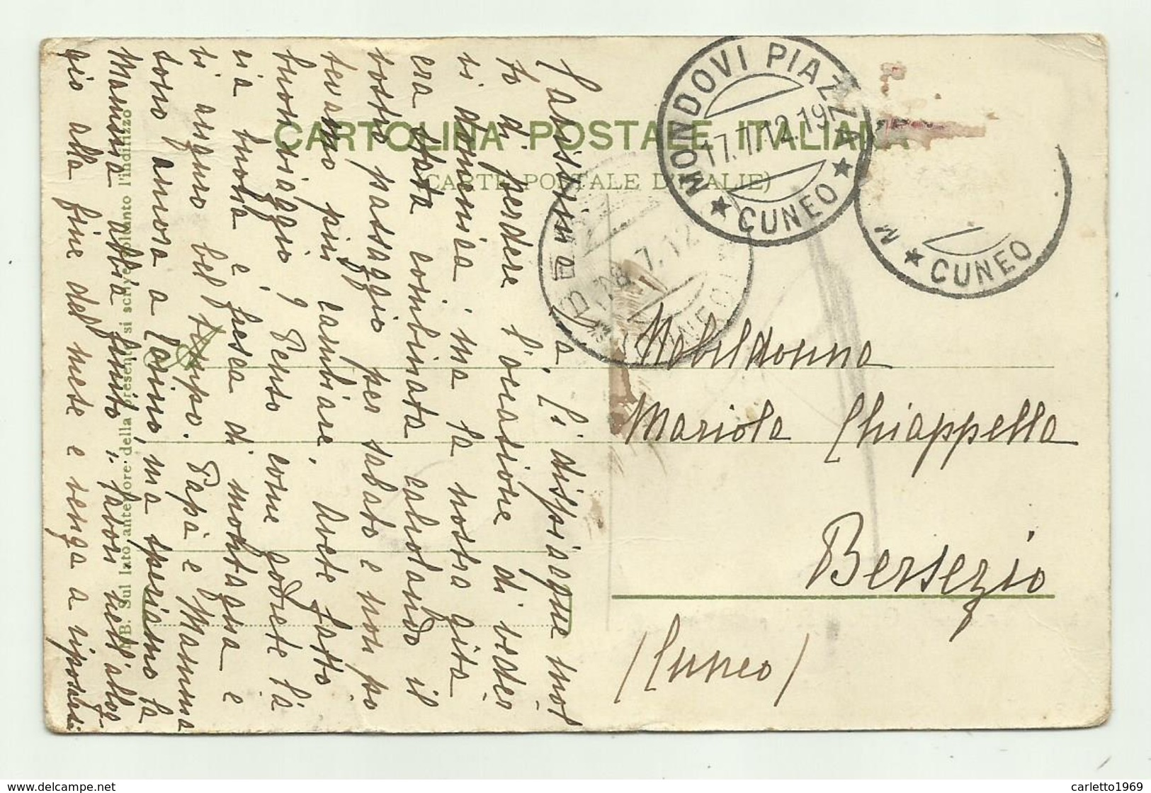 OSPEDALETTI - PASSEGGIATA 1912  VIAGGIATA  FP - Imperia