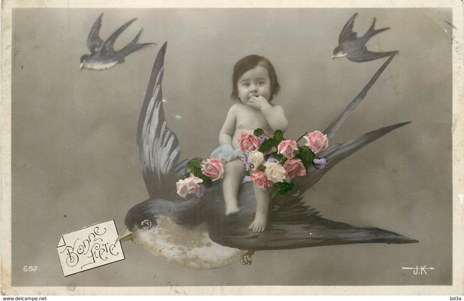 FANTAISIE - BEBE SUR UN OISEAU - Babies