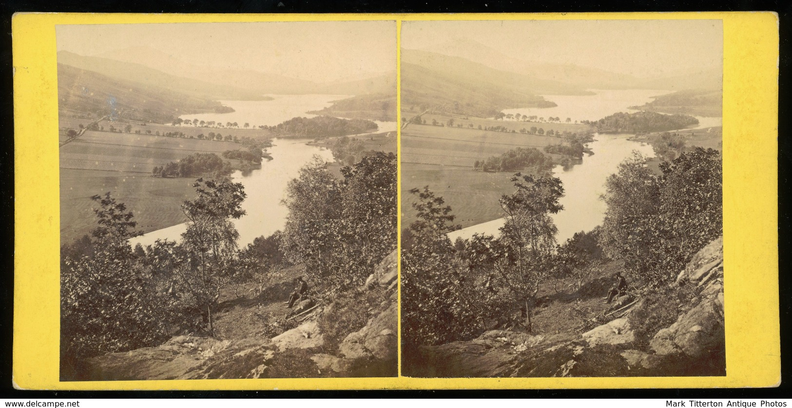 Stereoview - Loch Tummel - SCOTLAND - By G. W. Wilson - Stereoscoopen