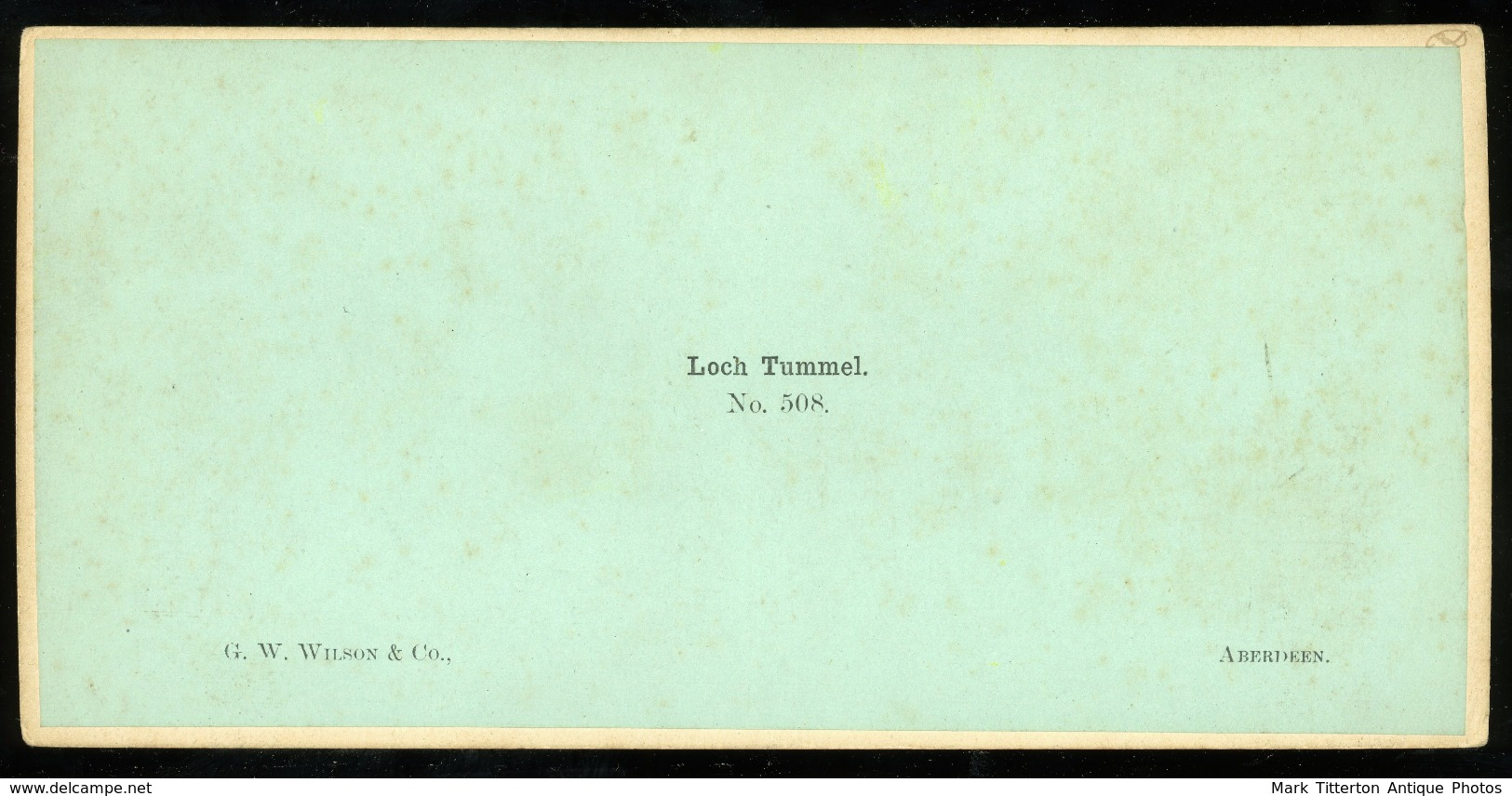 Stereoview - Loch Tummel - SCOTLAND - By G. W. Wilson - Stereoscopi