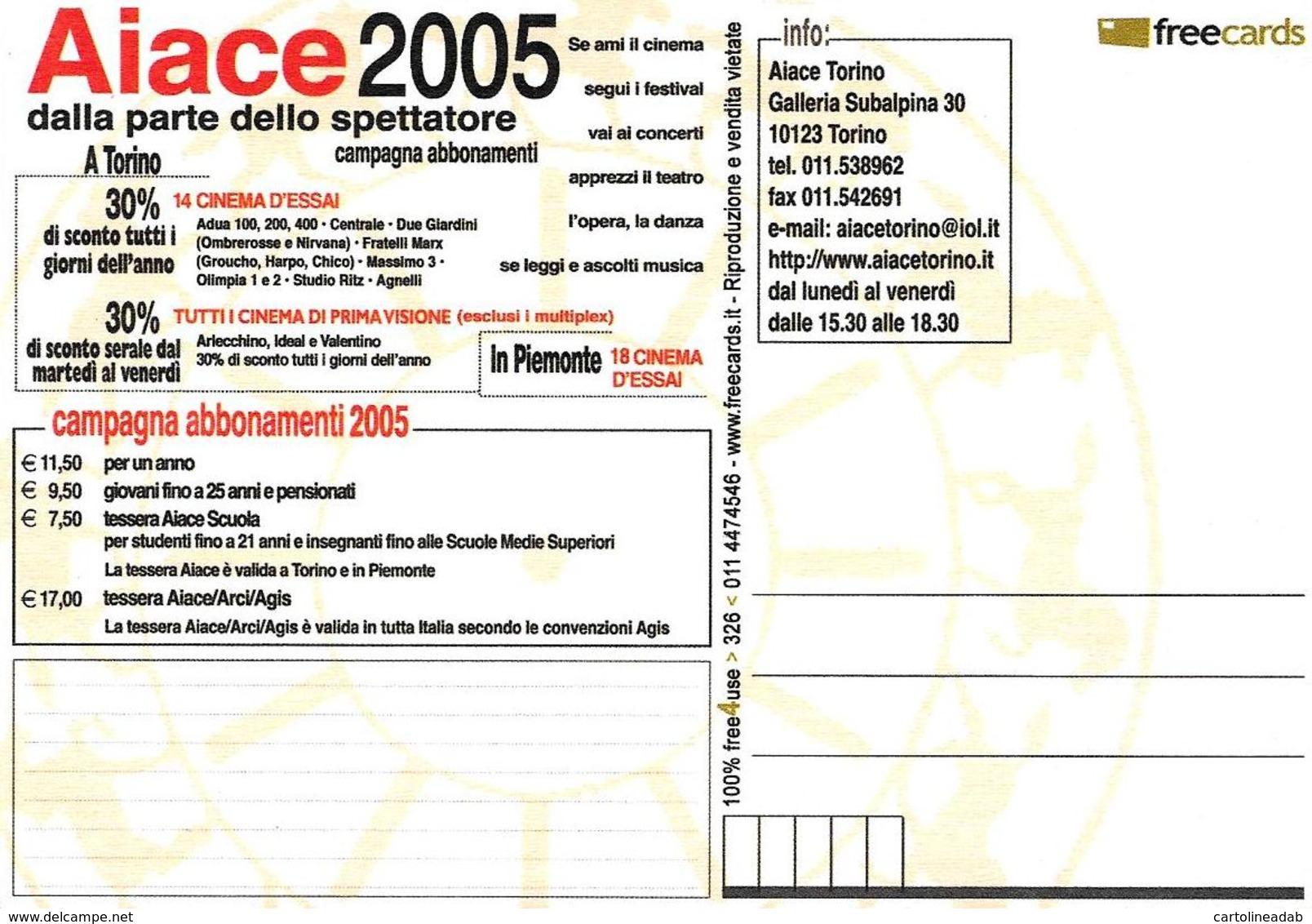[MD4036] CPM - CINEMA - TORINO - AIACE - FREECARDS 326 - PERFETTA - NV - Cinema